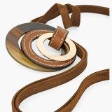De Juwelen Acryl van de manier om Halsband van het Leer van de Tegenhanger & van de Tegenhanger van de Halsband de Dubbele Ruige Lange voor Vrouwen