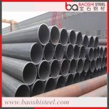 Venda quente tubulação de aço laminada da seção oca redonda preta