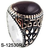 Anello d'argento dei monili 925 di modo con l'agata