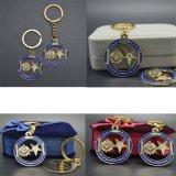 Anello portachiavi massonico del ricordo della catena chiave dell'oro