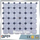 Mosaico de mármore branco da lanterna do projeto o mais atrasado com bom preço