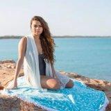 Круговое полотенце полотенца пляжа круглое турецкое