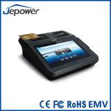 Jp762A الروبوت دعم نظام نقاط البيع الطابعة / قارئ بطاقة / NFC / 2D الباركود / 3G مع شهادة EMV