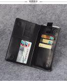 Cas de téléphone cellulaire avec la caisse de cuir de slot pour carte pour l'iPhone
