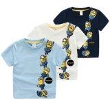 Couleur de l'impression trois de subordonnés de dessin animé de T-shirt de vêtements d'enfants 2-7 ans