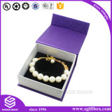 Hölzerner einzelner Ring-Halsketten-Armband-Ohrring-Schmucksache-Kasten