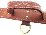 Collar de perro durable de cuero verdadero de la alta calidad para los animales domésticos grandes (KC0043)