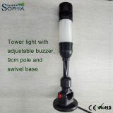 A coluna compata nova do sinal ilumina ajustável audível de 50mm com base