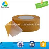 Cinta adhesiva de papel táctil de doble cara respetuosa del medio ambiente para placas de identificación (portador de tejido recubierto con base de disolvente)