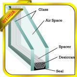vidrio aislado E inferior de 12m m con argón como paneles grandes de la pared de cristal de la ventaja de la energía