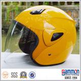 安いワインレッドの開いた表面オートバイのヘルメット(OP202)