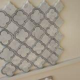 꽃 벽을%s 모양 Carrara 백색 대리석 모자이크 타일