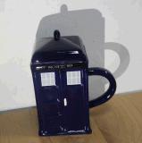 Tasse de café en céramique de thé de modèle de cabine de nouveauté pour le cadeau
