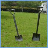 庭の鋼鉄シャベルのタイプの鋼鉄ハンドルが付いている踏鋤シャベル