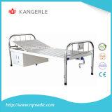 Edelstahl-Krankenhaus-Bett. Flaches Bett-China-Fabrik