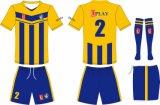 زرقاء وكرة قدم أصفر متّسقة كرة قدم جرسيّ كرة قدم يمتلك لباس مع ك علامة تجاريّة