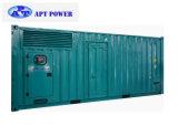 тепловозный генератор 800kVA установленный внутри контейнера 20FT