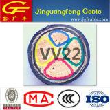 PVC blindé de faisceau de bande en acier de cuivre de câble d'alimentation isolé