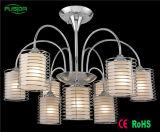 Iluminación de cristal china de la lámpara del hierro del techo con el certificado D-8151/6+3 del Ce