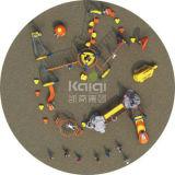 Игра Kaiqi напольная совместила с взбираясь системой стержня веревочки (KQ60140B)