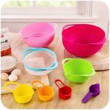 Food-Grade комплект корзины стока радуги PP, подготовка еды гнездя шара измеряя чашки смешивая установил 8 в 1