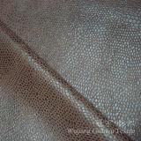 Polyester 100% en cuir composé de tissu avec bronzer le traitement