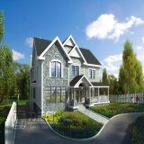 画像をする美しい外国の住居の家デザイン外部の側面