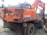 As boas condições muito usadas Japão original fizeram a máquina escavadora Ex160wd de Hitachi Weheel