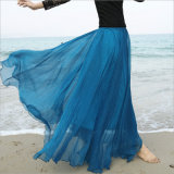 Юбка шифонового пляжа Boho длинняя для юбки праздника