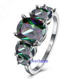 Heet verkoop juwelen-Mysticus de Ringen van het Messing van het Zirkoon (R0852)