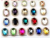 Bergkristal van het Kristal van het Glas van de Klauw van het Ornament van Kerstmis van het Kristal van China het In het groot Gouden Duidelijke Dichte Naaiende (sW-Daling 10*14)