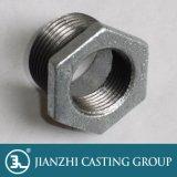 Encaixes de tubulação pretos galvanizados tipo do ferro maleável de Jianzhi 241 buchas do hexágono