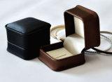 Caixa de presente de couro da embalagem da jóia da caixa de armazenamento da jóia do plutônio (YS309)