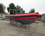 Stijve Opblaasbare het Duiken van China Aqualand 19FT 5.8m Boot/de Boot van de Patrouille van de Rib/de Militaire Boot van de Redding (RIB580T)