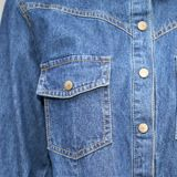Одно одеяние платья джинсовой ткани части готовое сделанное
