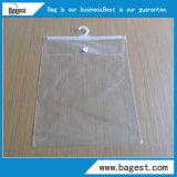 Мешок PVC тканья с полиэтиленовым пакетом крюка водоустойчивым для одежды