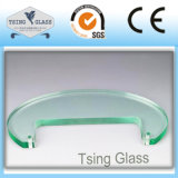 glace Tempered en verre traitée par 3-19mm avec Polished/chanfrein/bords d'Arris