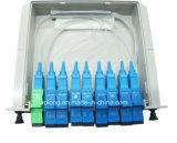 1X8 PLC Splitter (CATV Telecom FTTH FTTX PON) di Chassis Fiber Optical del PC dello Sc
