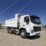 피지를 위한 오른손 드라이브 공기 시트 HOWO A7 20cbm 덤프 트럭