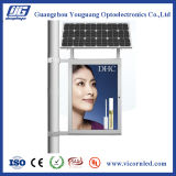 Double Side Solar Middle Lamp Poste LED Light Box