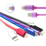 iPhone 5/6을%s 8 Pin Metal Shell Braided USB Cable