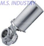 Válvula de borboleta sanitária do aço inoxidável de produto comestível (MSV8110)