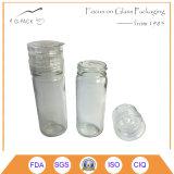 Ясный стеклянный точильщик соли, ручной штуцер точильщика