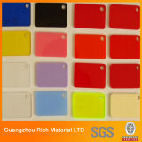 Tarjeta de acrílico del acrílico del plástico PMMA de la hoja del color del molde