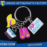 소형 관광객과 가진 선전용 주문 유일한 편지 Keychain는 기억을 매혹한다
