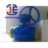 Válvula de esfera soldada do aço de carbono do volante de DIN/ANSI