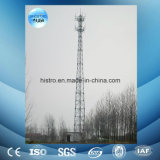 torre de la telecomunicación de los 60m, torre de acero del ángulo, torre del acero del tubo