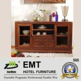 Cabinet latéral en bois matériel en bois en caoutchouc (JZ-C-4002)
