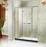 Linha reta tela de chuveiro do banho do canto da forma/cerco chuveiro do banho/quarto chuveiro do banho