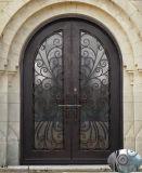 Doppi portelli di entrata d'acciaio di lusso con la traversa